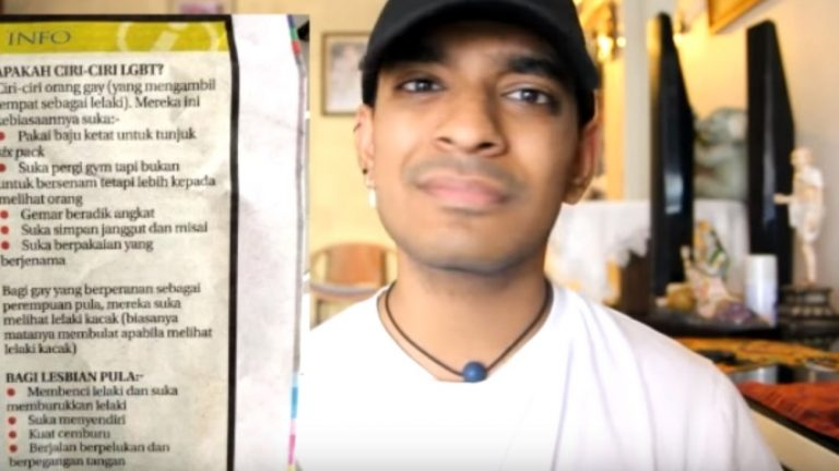Le vlogueur et activiste queer malaisien Arwind Kumar