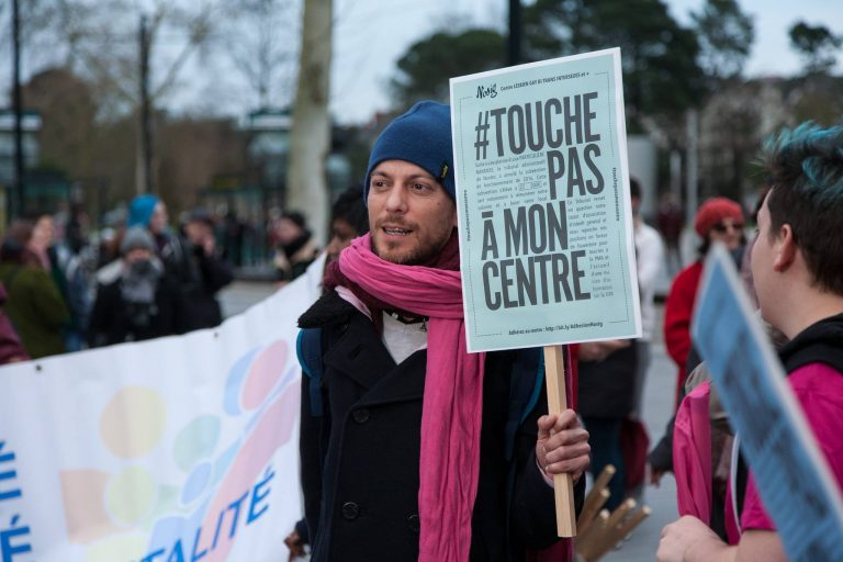 Rassemblement pour le centre LGBTI en février - CLGBTNantes / Facebook / Droits réservés