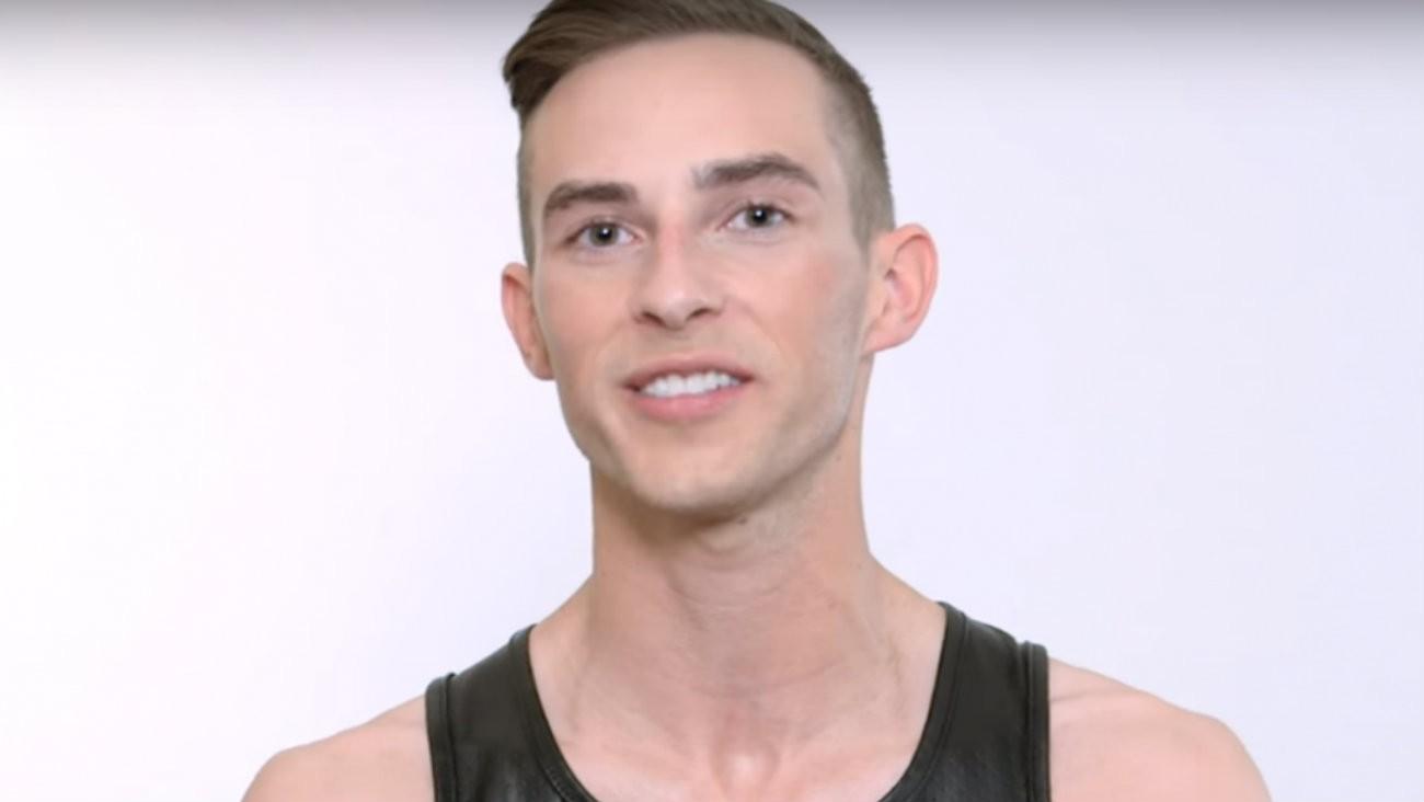 Le patineur artistique américain Adam Rippon