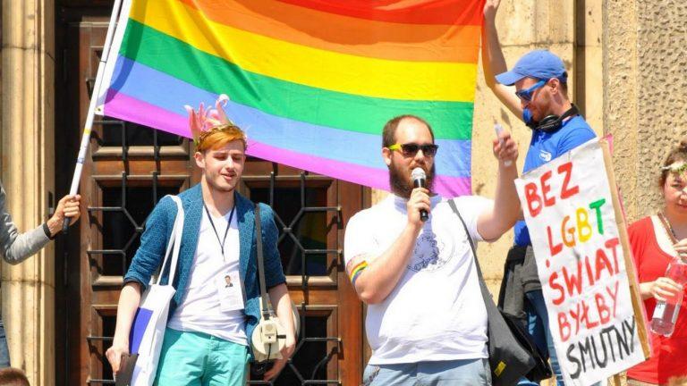 Miko Czerwinski lors de la « Queerovy Maj » en 2015 à Cracovie