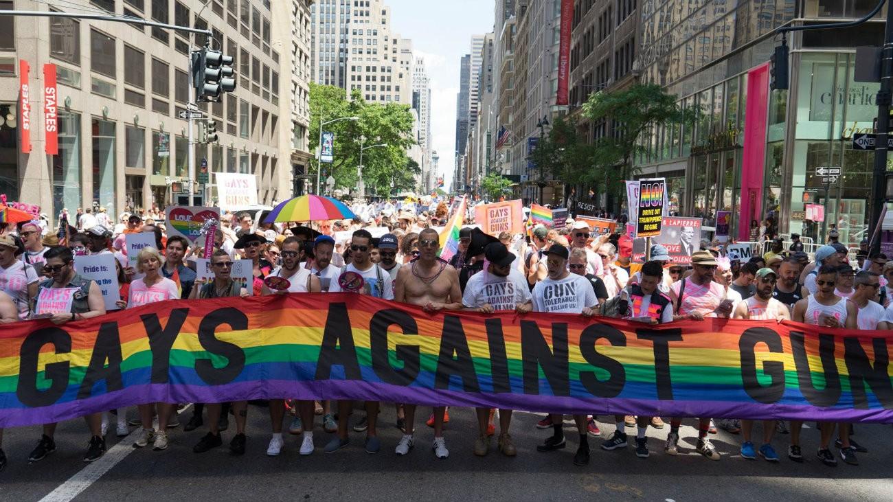 Les GAG lors de la Marche des fiertés de New York en 2017