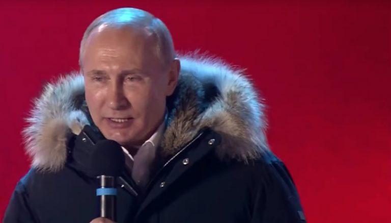 Poutine, tout content de sa victoire - Capture d'écran