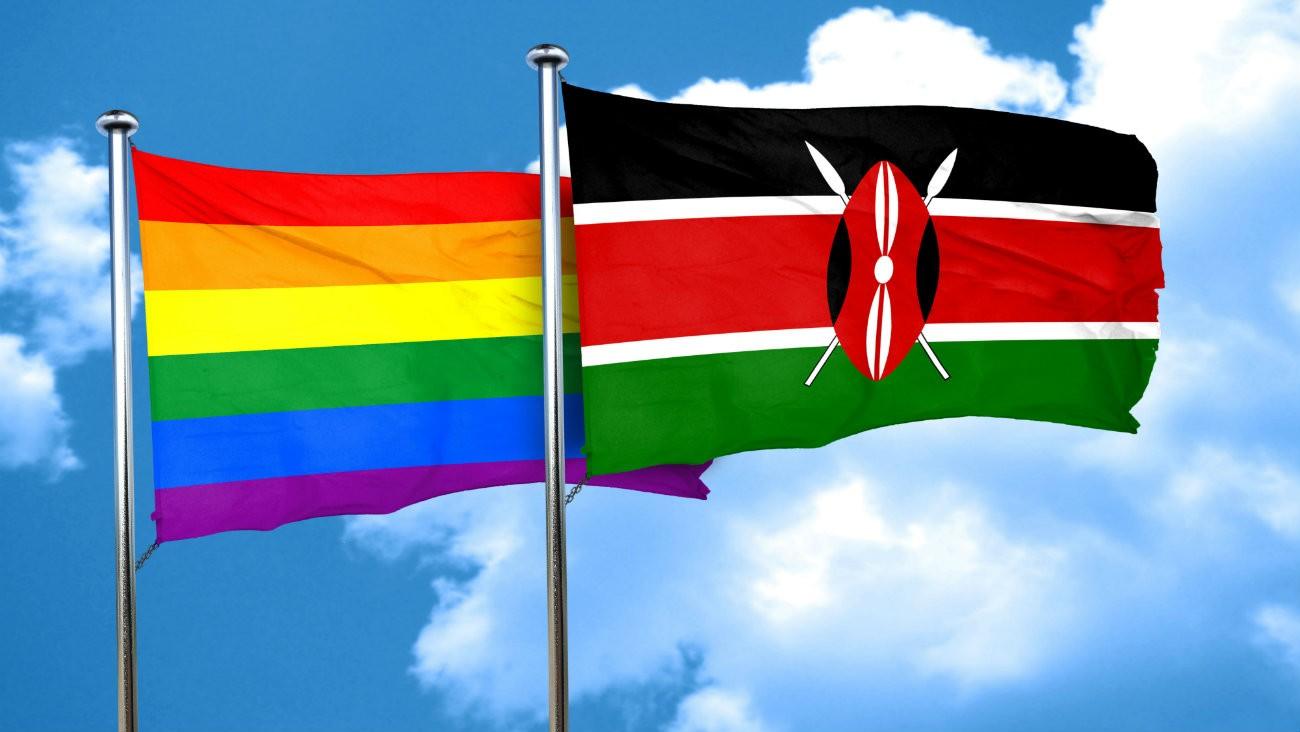 Drapeau kényan et drapeau rainbow