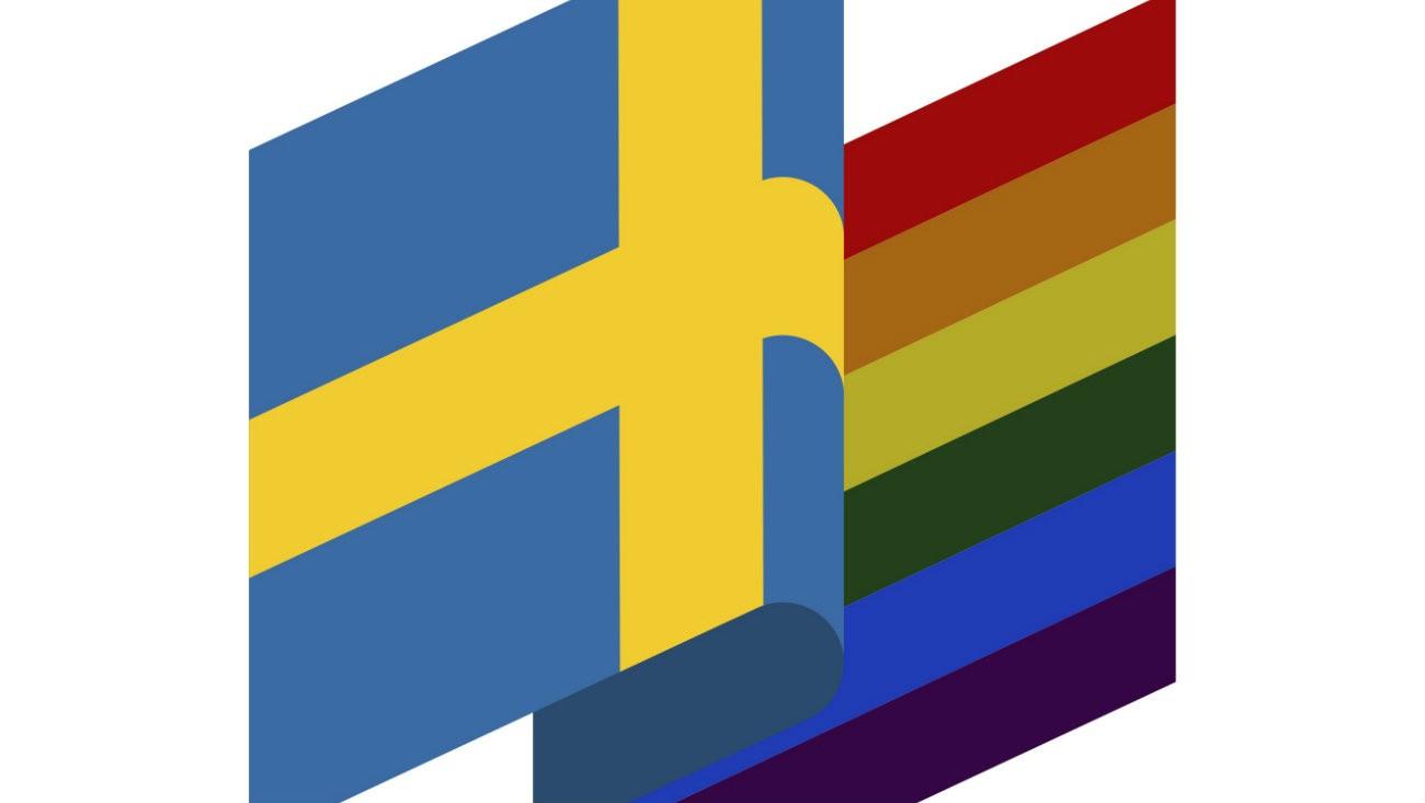 Drapeau Suédois et LGBT