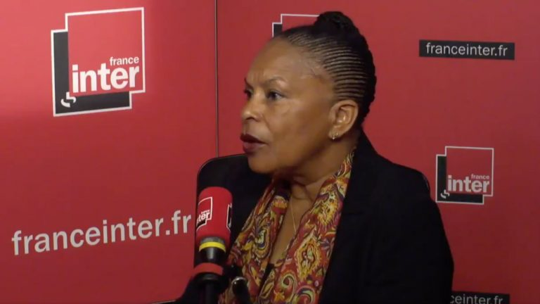 Christiane Taubira au micro de France Inter jeudi 19 avril