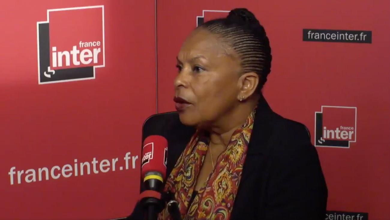 Christiane Taubira au micro de France Inter jeudi 19 avril