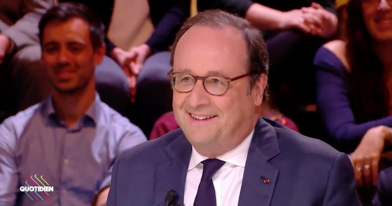 François Hollande dans l'émission Quotidien le mercredi 25 avril 2018 - Capture d'écran / TMC