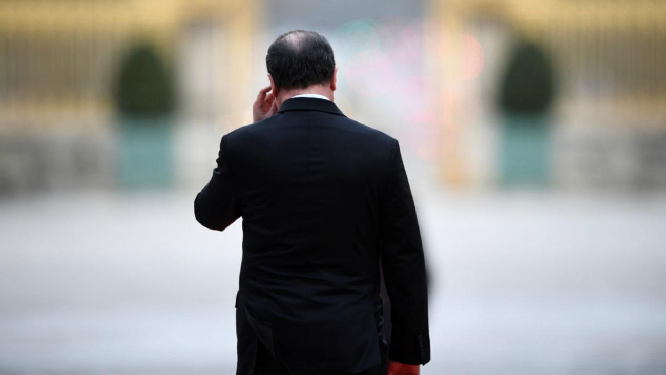 François Hollande de dos