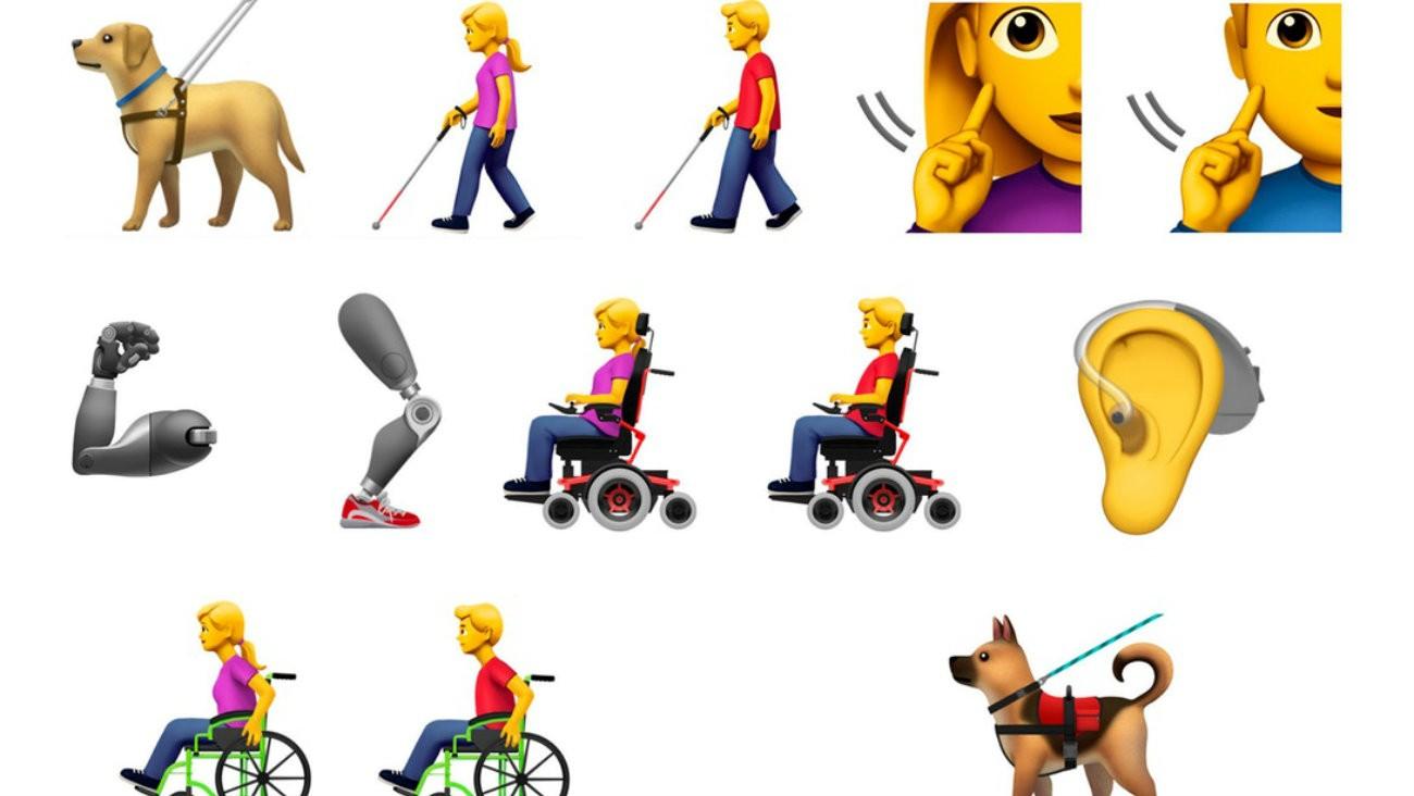 handicap Apple emojis