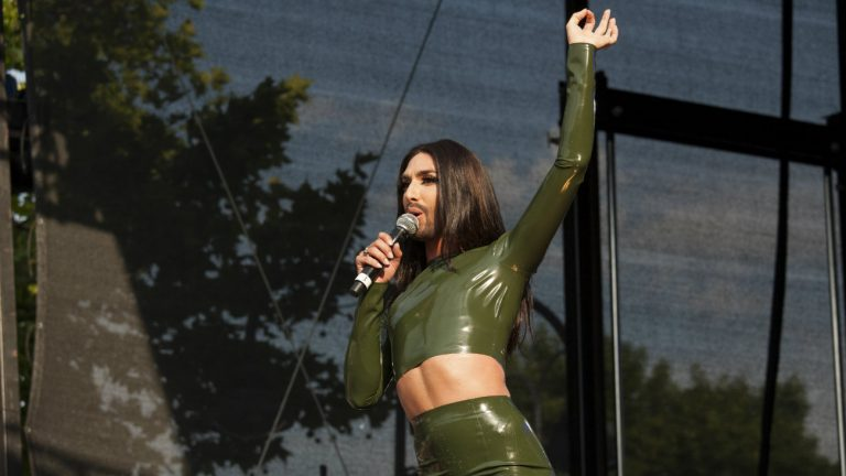 Conchita Wurst le 14 juillet 2015 à la Pride de Cologne