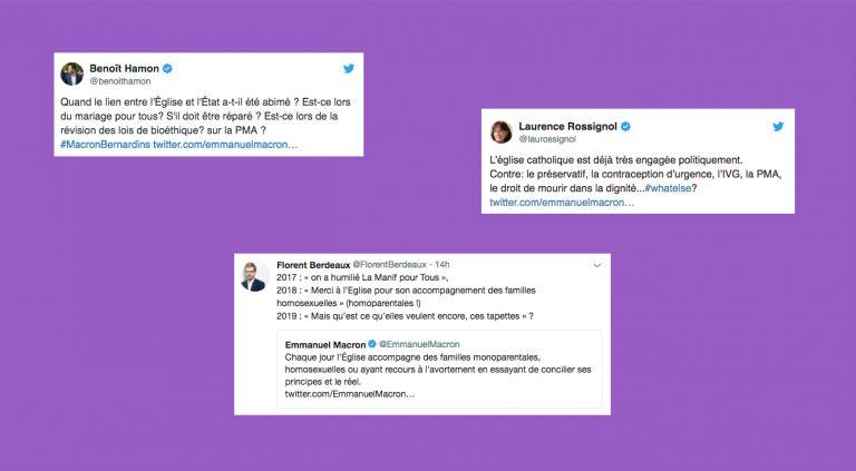 Les réactions aux discours de Macron devant la CEF