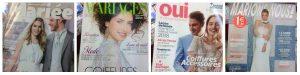 5 ans du mariage pour tou.te.s : couvertures de quatre magazines spécialisés dans le mariage