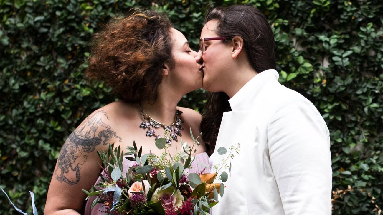Mariage d'un couple de lesbiennes, en 2015