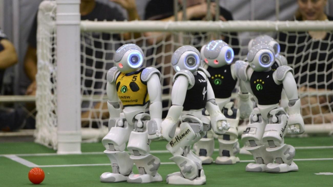 RoboCup match de football