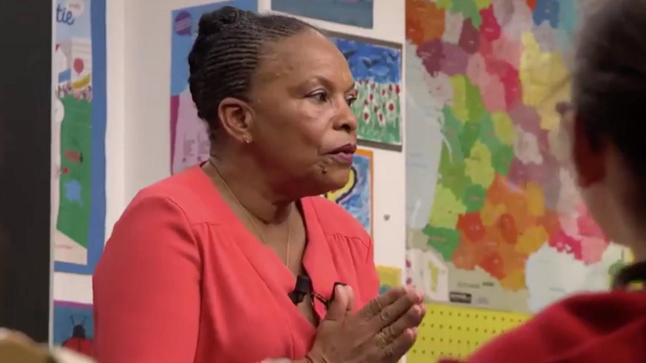 Christiane Taubira dans l'émission « Au Tableau »