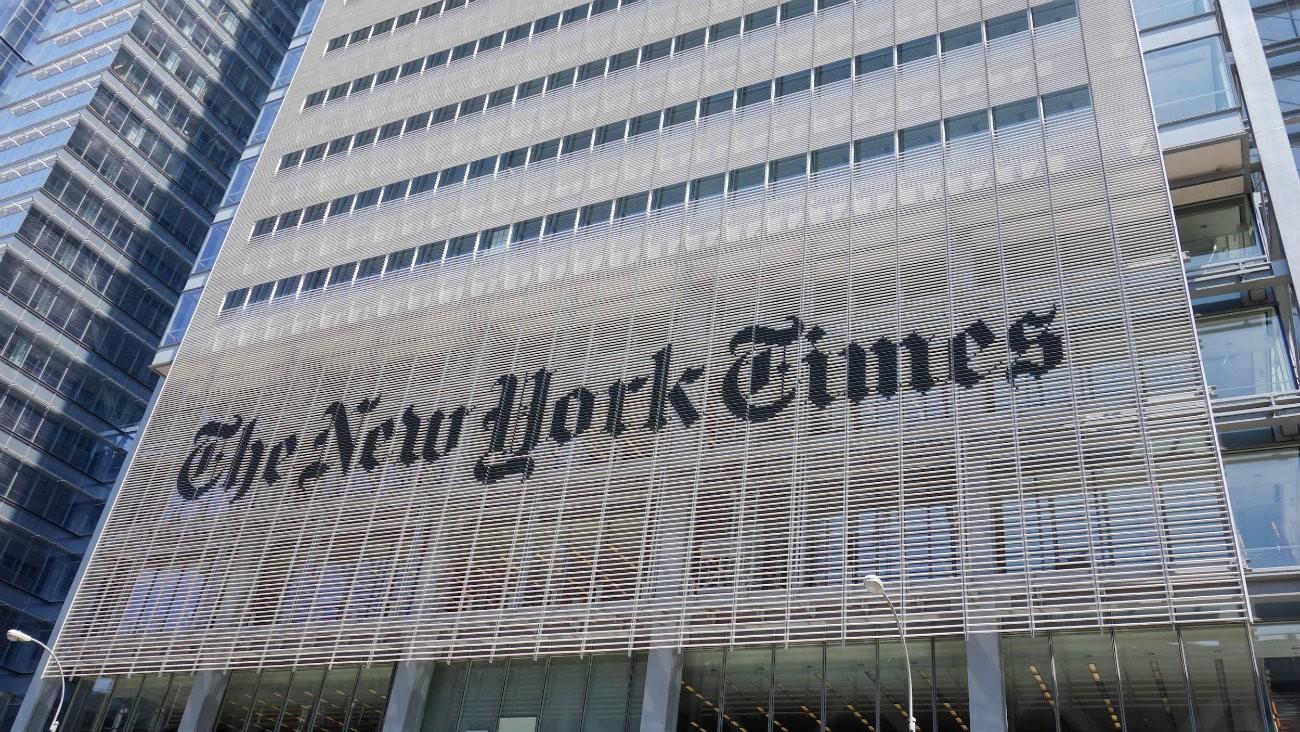 Devanture du New York Times - Scott Beale / Laughing Squid / Flickr