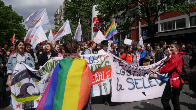Tête du cortège LGBTI et féministe au 1er mai 2018 - Maëlle Le Corre