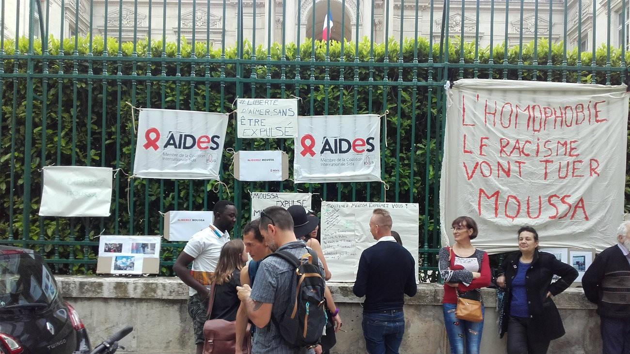 Rassemblement à Nîmes en soutien à Moussa - @SadeddineAides / Twitter