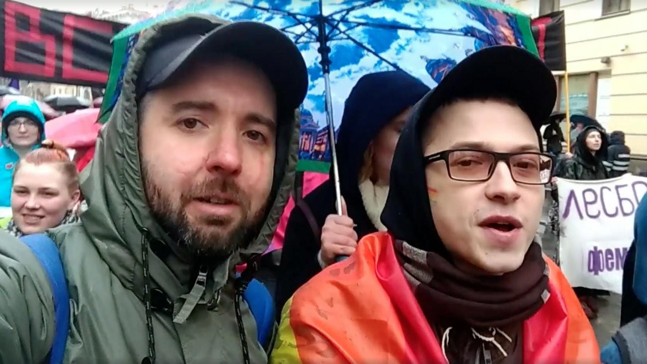 Manifestation du 1er mai en Russie : les LGBT+ sortent les drapeaux arc-en-ciel