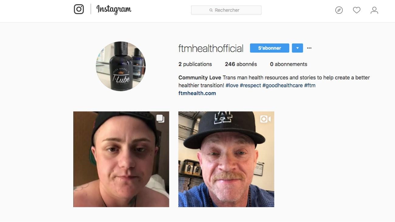 Le compte Instagram @ftmhealthofficial vient d'être lancé par Buck Angel