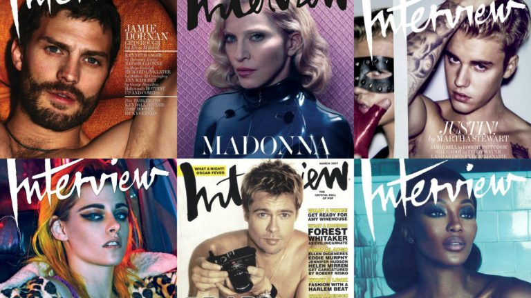 Des couvertures du magazine Interview qui va disparaître - Interview Magazine