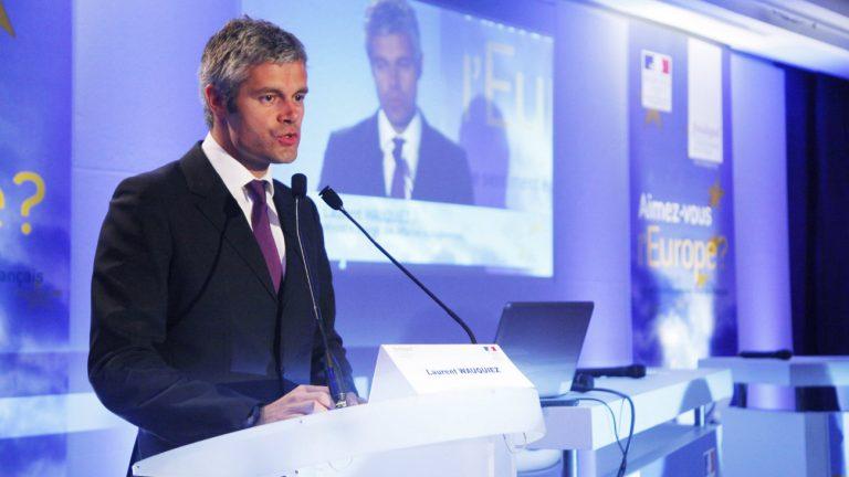 Laurent Wauquiez lors d'un colloque sur l'Europe en 2010 - Fondapol - Fondation pour l'innovation politique Suivre / Flickr