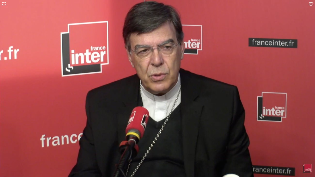 Monseigneur Aupetit, archevêque de Paris, invité de France Inter lundi 7 mai - Capture d'écran YouTube / France Inter