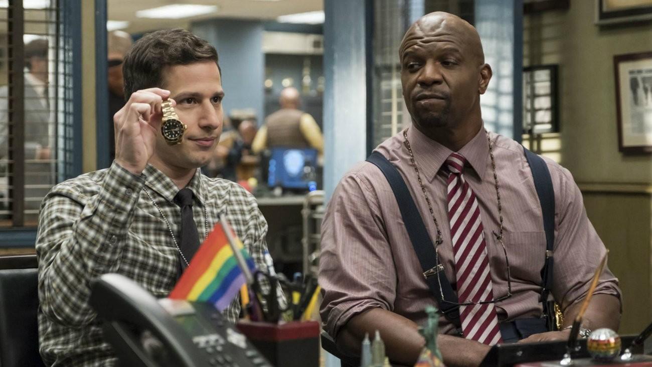 Andy Samberg et Terry Crews dans la saison 5 de «Brooklyn Nine-Nine » - Jordin Althaus / FOX