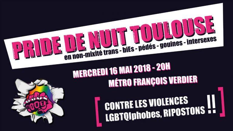 Affiche de la Pride de Nuit de Toulouse 2018