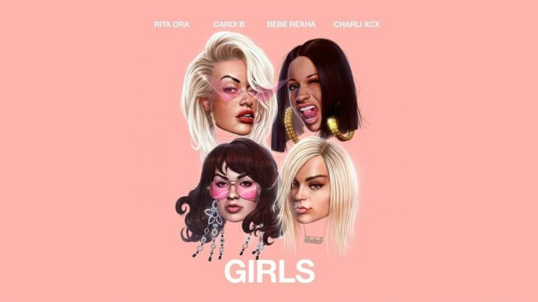 Pochette de « Girls », nouveau single de Rita Ora