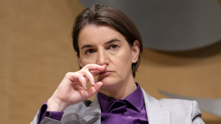 La Première ministre en Serbie, Ana Brnabić