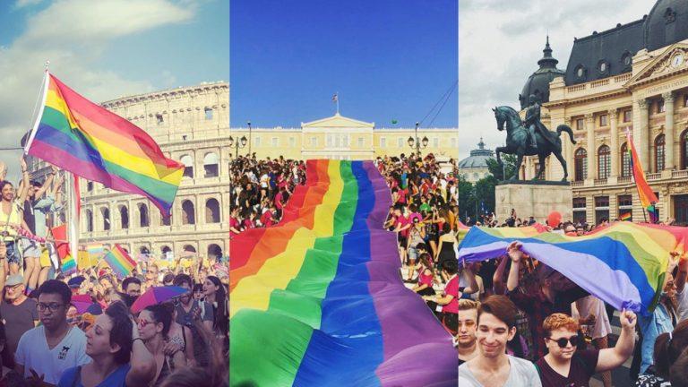Les Marches des fiertés 2018 de Rome, Athènes et Bucharest
