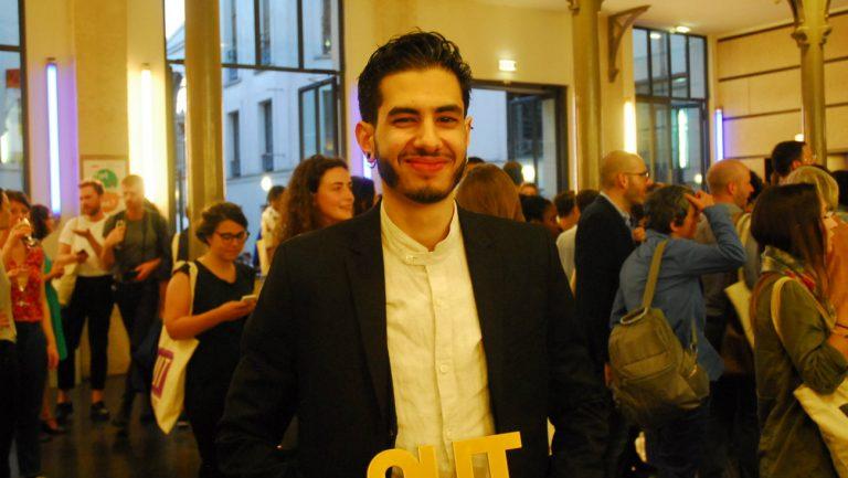Jonas Ben Ahmed lors de la cérémonie des OUT d'Or 2018 / Komitid - Jean-Benoit Richard