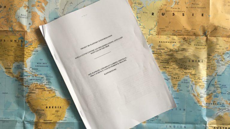 Le projet de rapport sur la lutte contre les discriminations anti LGBT dans les Outre-mer