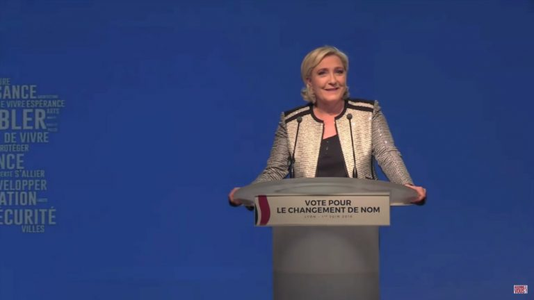 Marine Le Pen le vendredi 1er juin 2018 - Capture d'écran YouTube