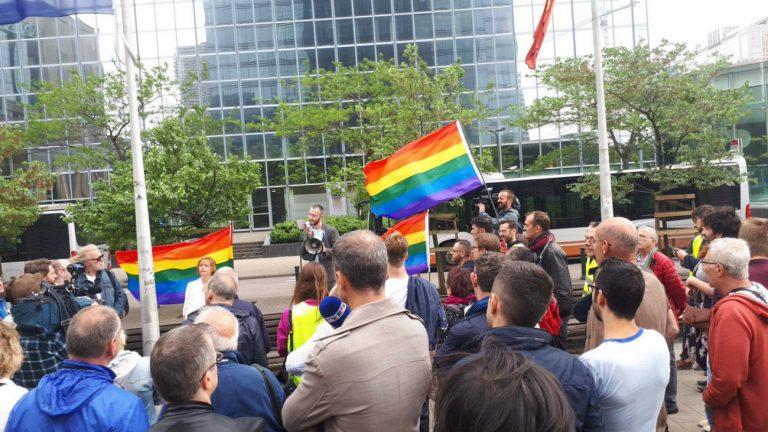 Photo prise lors du rassemblement à Bruxelles, samedi 2 juin - twitter.com/otterikk