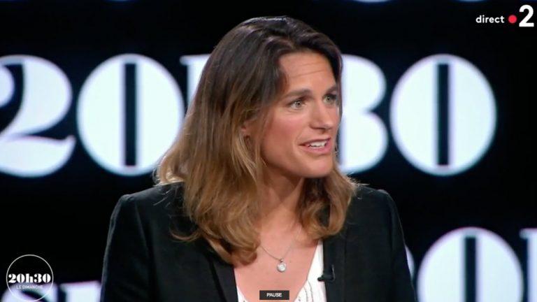 Amélie Mauresmo dans «20h30, le dimanche » sur France 2, dimanche 10 juin.