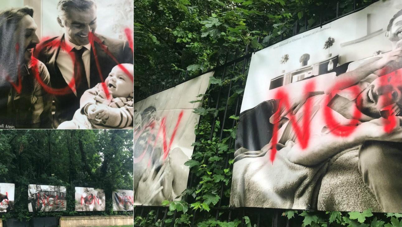 L'exposition Couples de la République et Couples Imaginaires a été vandalisée dans la nuit du 31 mai au 1er juin - twitter.com/OlivierCiappa