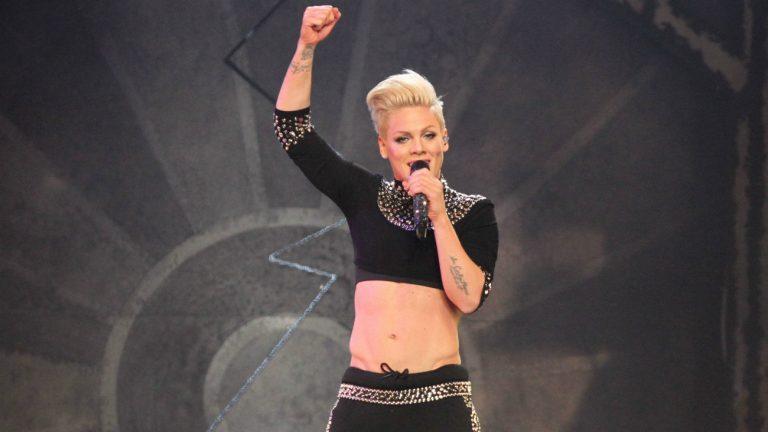 La chanteuse P!NK lors d'un concert en 2013 à NYC - JStone / Shutterstock