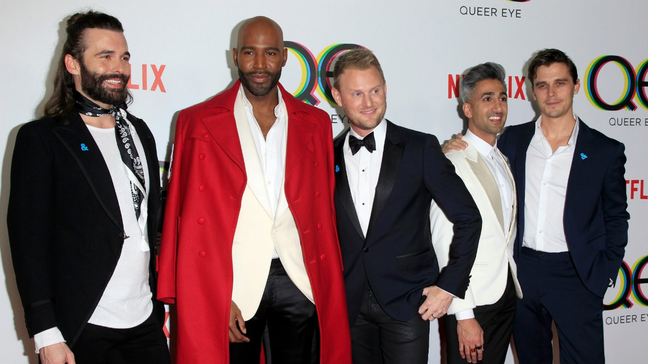 Le casting de «Queer Eye » lors de la première de la saison 1, à West Hollywood - Kathy Hutchins / Shutterstock