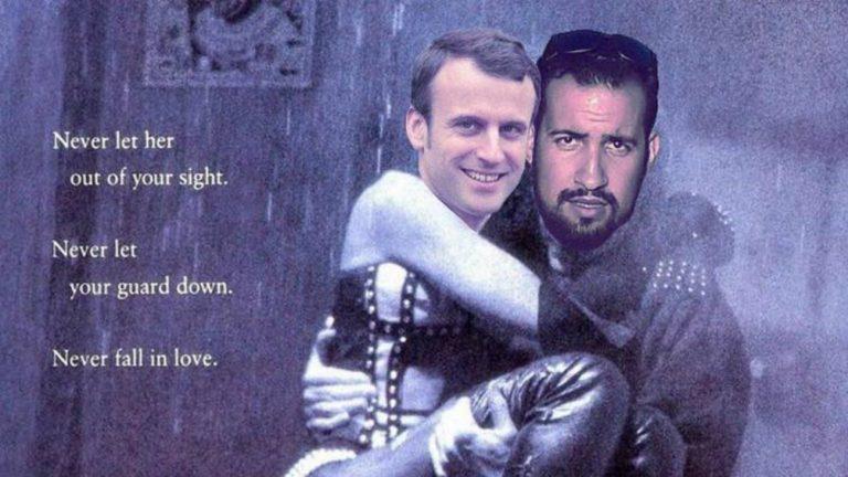 Benalla Macron caricature
