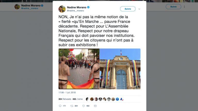 Nadine Morano réaffirme son homophobie en un tweet façon Minute