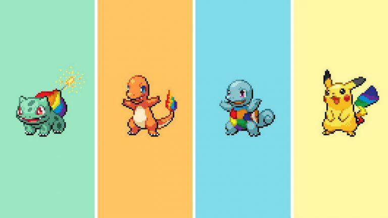 Quand les Pokémon attrapent toutes les couleurs de l'arc-en-ciel