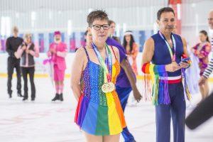 gay games paris 2018 patinage artistique ancienne et nouvelle génération Laura Moore pionnière battante lesbienne