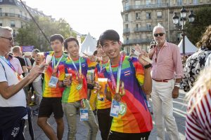 gay games athètes médailes cérémonie clôture