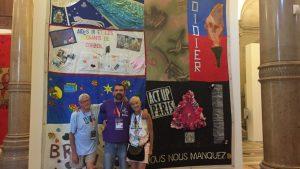 Michael Kerr, Jean-Michel Gonnet Gert McMullin exposition patchwork des noms name quilt souvenir mémoire contre l'oubli vih sida prévention paris gay games 2018