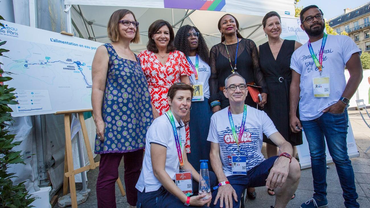 Une maire et deux ministres inaugurent le village des Gay Games