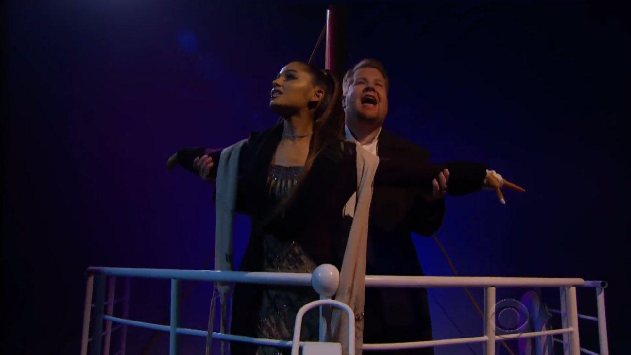 Ariana Grande James Corden Titanic