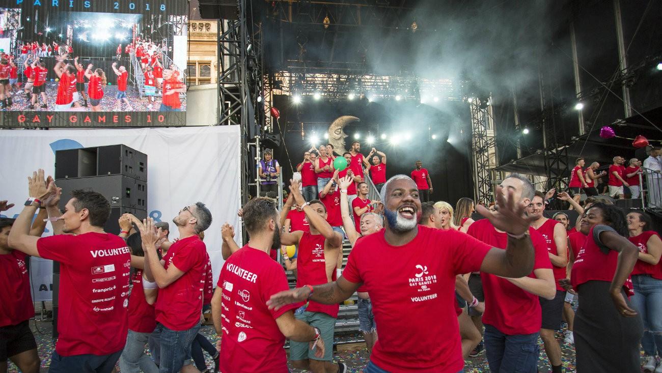 cérémonie clôture gay games 2018 paris village parvis hotel de ville
