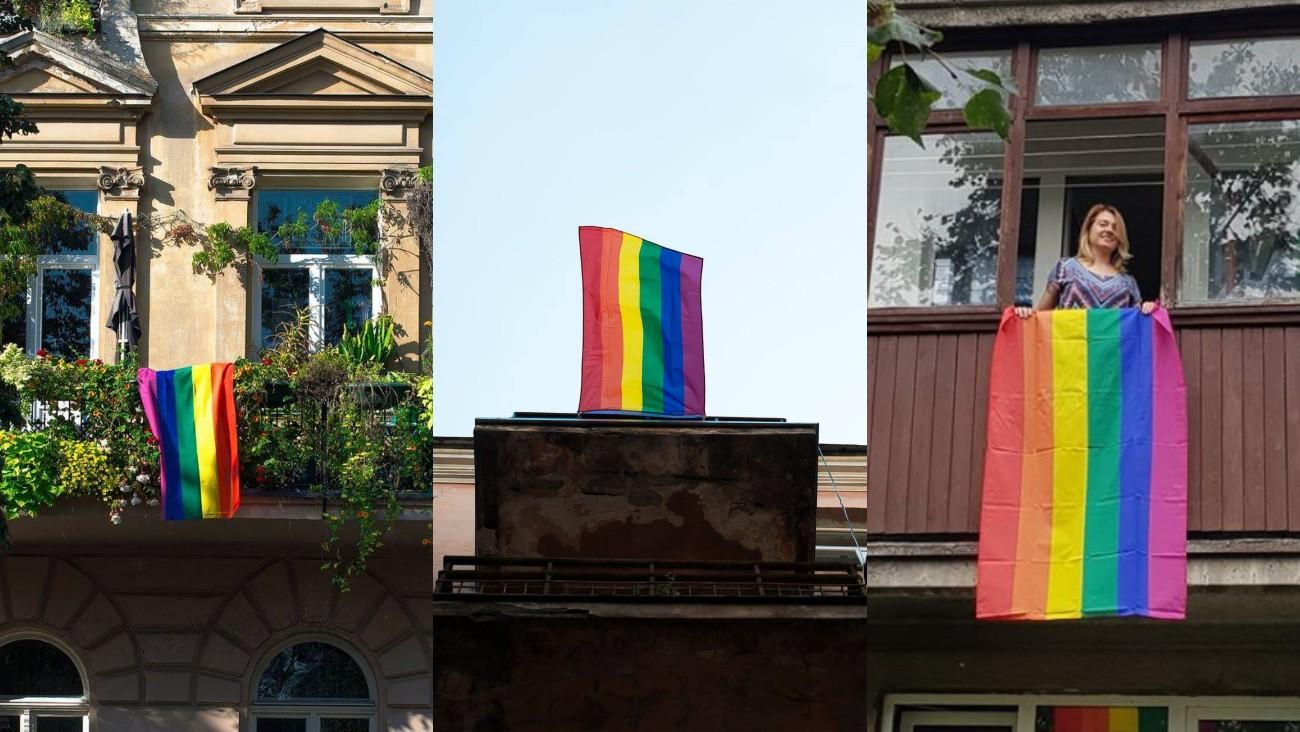 Vilnius drapeaux LGBT
